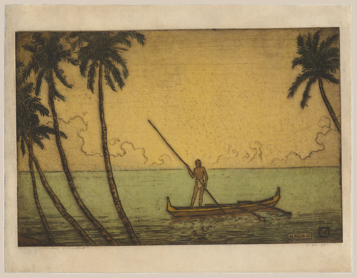 """Hawaii (Man in Outrigger, Hawaii)"" by Bartlett, Charles"