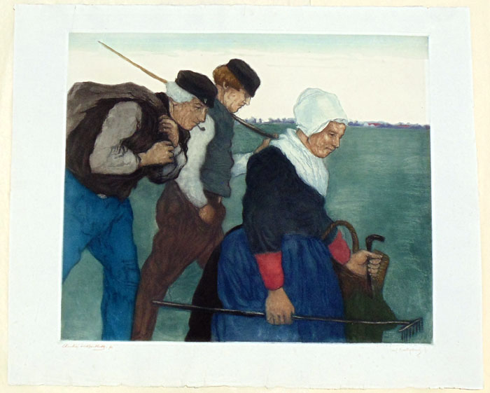"""Returning From Work, Holland"" by Bartlett, Charles"