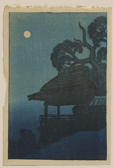 """Ishiyama Temple (Pre-Earthquake)"" by Shinsui, Ito"