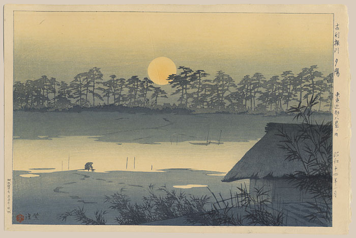 """Sunset on the Furutone River"" by Kasamatsu, Shiro"
