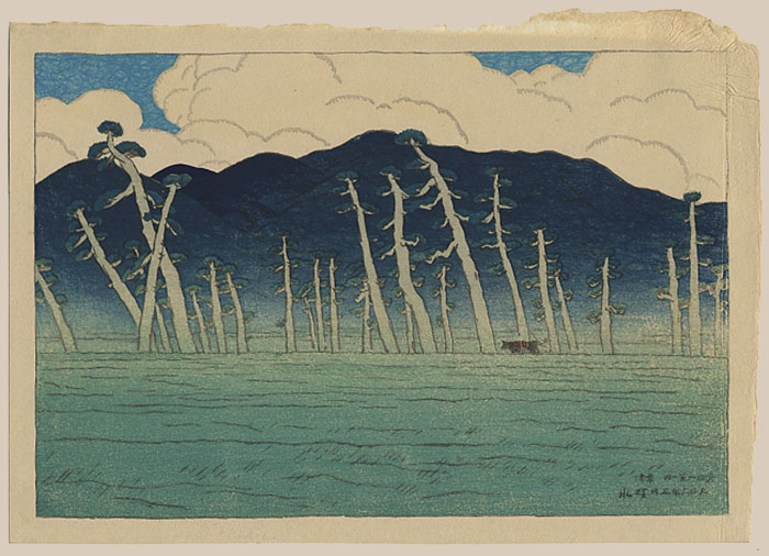 """Morning at Lake Biwa"" by Shinsui, Ito"