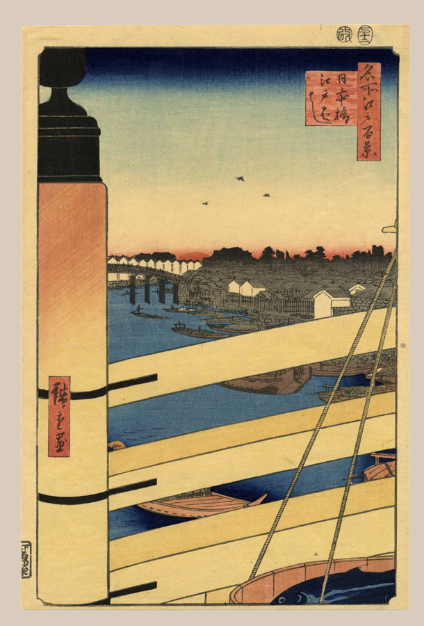 """Nihonbashi Bridge and Edobashi Bridge"" by Hiroshige"