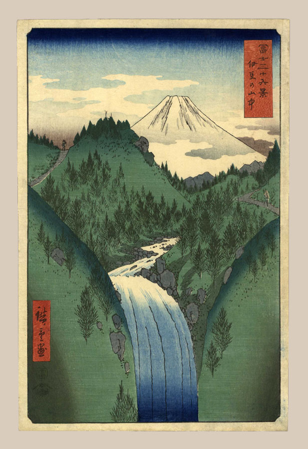 """The Izu Mountains"" by Hiroshige"