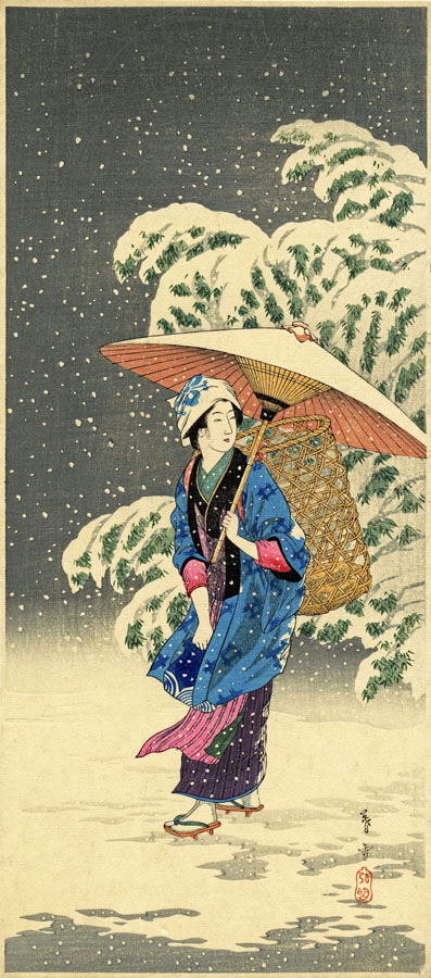 """Snow at Twilight"" by Shotei, Takahashi"