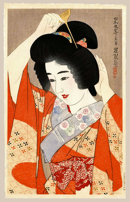 """Hair - Kami"" by Shinsui, Ito"