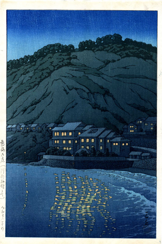 """Evening in Atami, View from the Abe Inn"" by Hasui, Kawase"