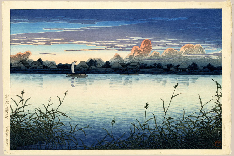 """Early Autumn in Urayasu"" by Hasui, Kawase"