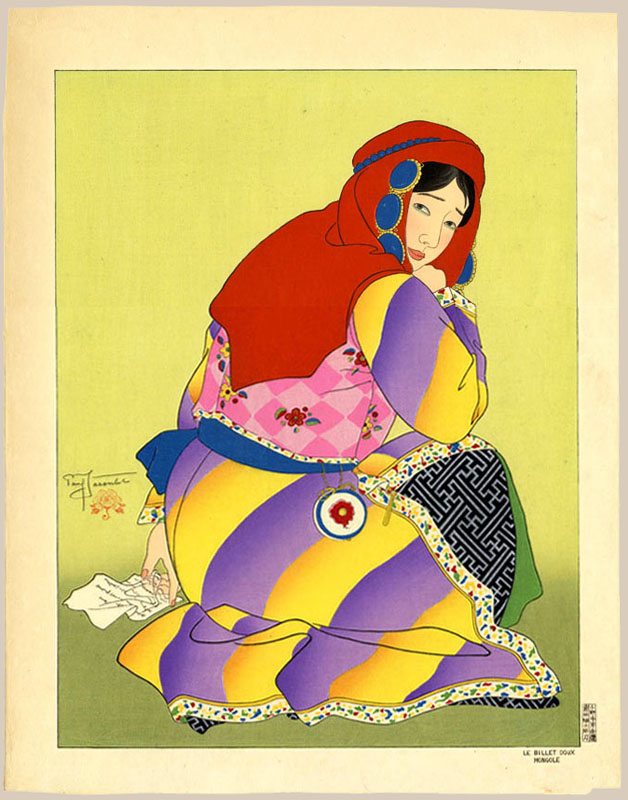 """The Love Letter. Mongol"" by Jacoulet, Paul"
