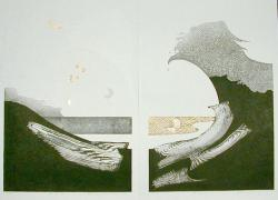 Thumbnail of Limited Edition Woodblock Prints with Embossing and Gold Leaf by Iwami, Reika