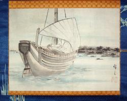 Thumbnail of Original Painting Scroll by Hiroshige