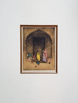 Thumbnail of Etching, drypoint hand-colored with watercolor. by Bartlett, Charles