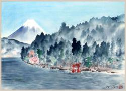 Thumbnail of Original Watercolor on Silk by Obata, Chiura