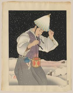 Thumbnail of Limited Edition Japanese Woodblock Print by Jacoulet, Paul