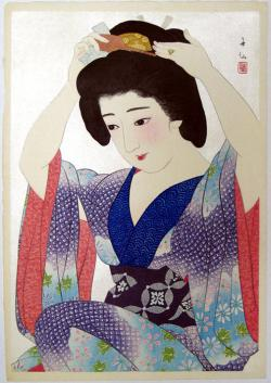 Thumbnail of Original Japanese Woodblock Print by Shunsen, Natori