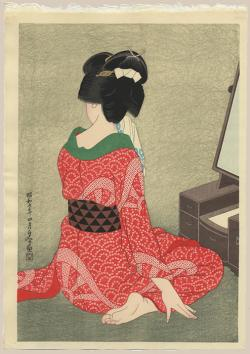 Thumbnail of Original Japanese Woodblock Print by Hakuho, Hirano