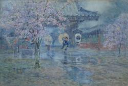 Thumbnail of Watercolor on paper by Nakagawa, Hachiro