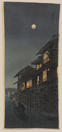 Thumbnail of Original Japanese Woodblock Print On Crepe Paper by Shotei, Takahashi