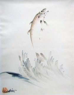 Thumbnail of Original Watercolor and Sumi on Paper by Obata, Chiura