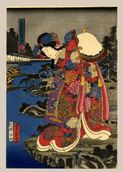 Thumbnail of Original Japanese Woodblock Print by Sadanobu