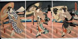 Thumbnail of Original Japanese Woodblock Print - Triptych by Kunisada