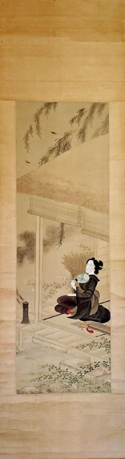 Thumbnail of Original Painting on Silk - Scroll by Toyokuni