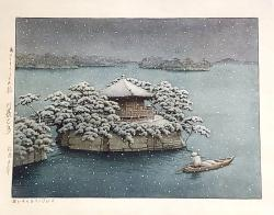 Thumbnail of Original Watercolor Painting on Paper by Hasui, Kawase