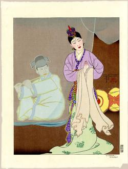 Thumbnail of Original Limited Edition Japanese Woodblock Print by Jacoulet, Paul